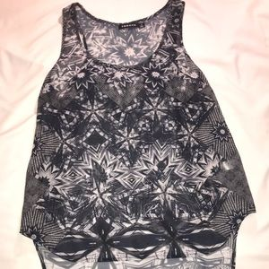 Patterned Razorback Tank Top